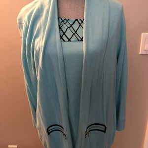 Woman's Twofer Cardigan Sweater w/matching Top